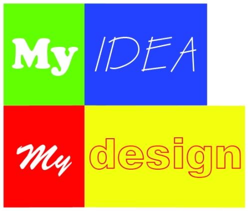 Myideamydesign blog logo! By using photoshop CS4, this logo was ...
